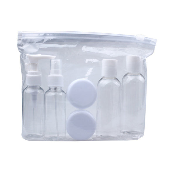 Portable Transparent Travel Bottles (Set of 6) - Trendy Staples