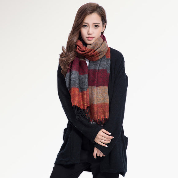 Winter Pashmina Cashmere Wool Shawls / Scarf (7 Designs) - Trendy Staples