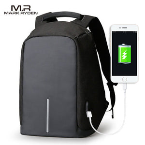 Mark Ryden Anti-Theft Water-Resistant Strip Series Business Laptop Backpack With USB Charging Port - Trendy Staples