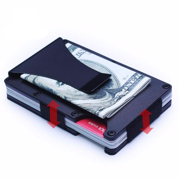 RFID Blocking Metal Mini Slim Wallet - Trendy Staples
