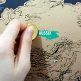 Traveller's Scratch Off World Wall Map - Trendy Staples