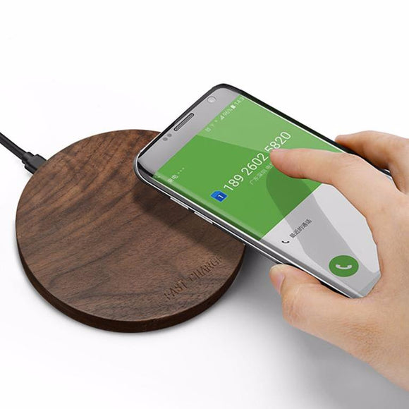 10W 2.1A Qi Wireless Fast Charger for Samsung Galaxy S8, S7, Note 8, iPhone 8, 8Plus, X - Trendy Staples