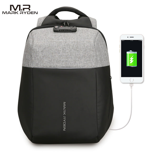 Mark Ryden Metro Series Anti-Theft Water-Resistant 15.6 Inch Laptop Backpack with USB Charging Port & Lock - Trendy Staples