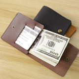 Handmade Genuine Leather Ultra-Thin Micro Wallet - Trendy Staples