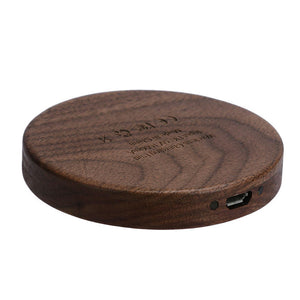 1A Qi Wireless Phone Charger Wooden Pad - Trendy Staples