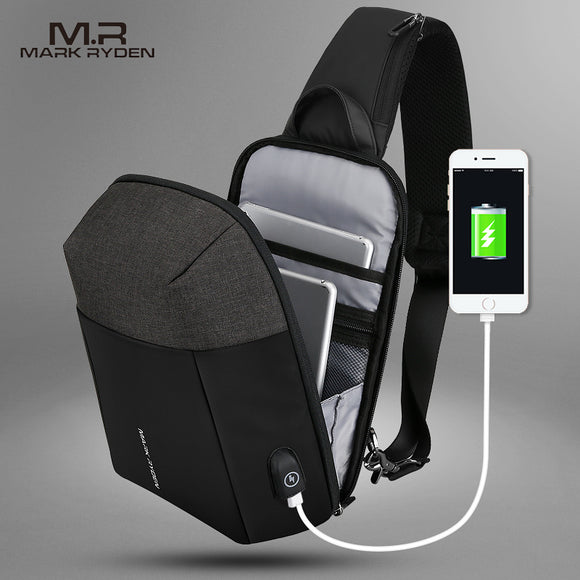 Mark Ryden Metro Series Anti-Theft Water-Resistant Cross Shoulder Bag with USB Charging Port