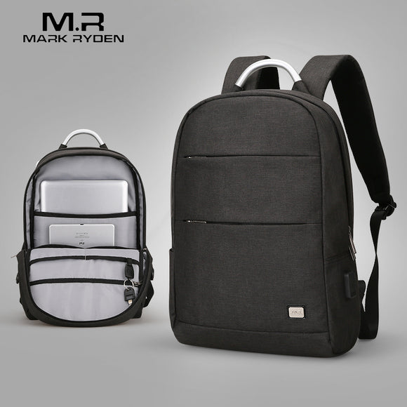 Mark Ryden Pax Series Anti-Theft Water-Resistant 15.6 Inch Laptop Backpack With USB Charging Port - Trendy Staples