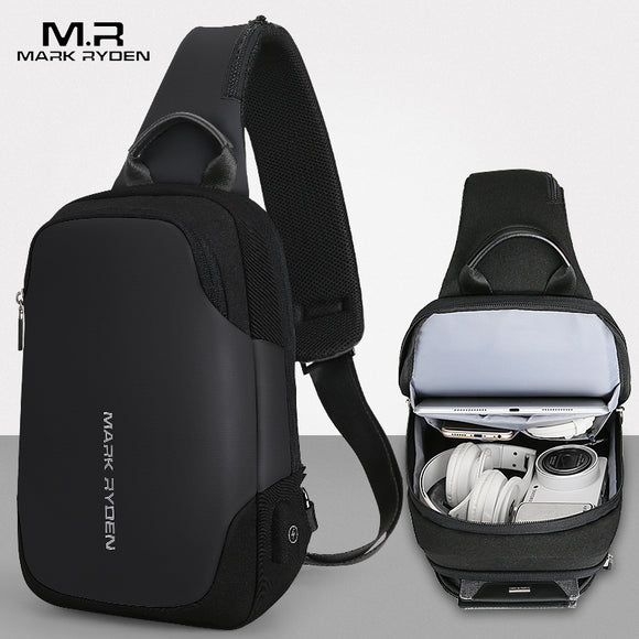 Mark Ryden Nox Series Water-Resistant Cross Shoulder Bag with USB Charging Port - Trendy Staples