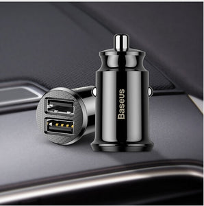 Baseus Car Phone Charger Dual USB Port - Trendy Staples