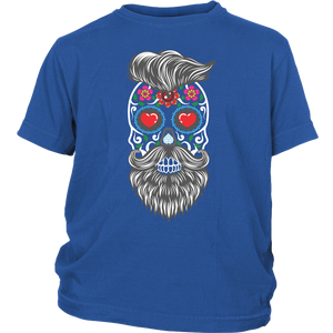 Calavera Hipster Sugar Skull Youth Tee Shirt - Trendy Staples