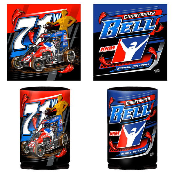 "Christopher Bell ""The Champ is Here"" Can Coozie"