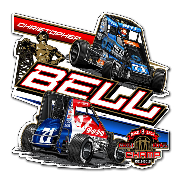 "Christopher Bell ""Back 2 Back"" Decal"