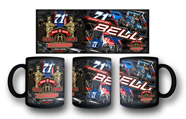 "Christopher Bell ""Back 2 Back"" Black Mug"