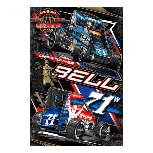 "Christopher Bell ""Back 2 Back"" Poster"