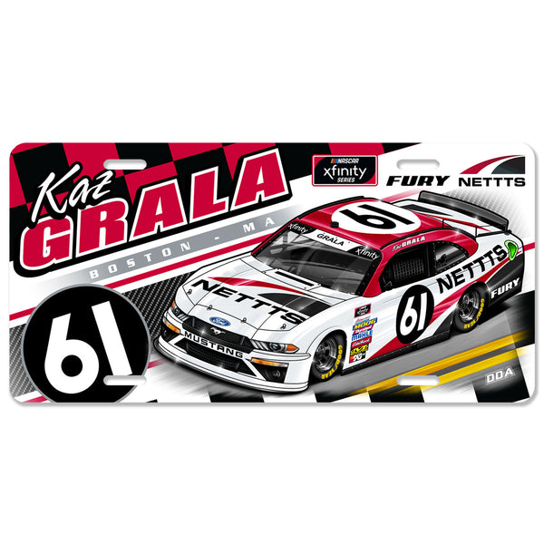 "Kaz Grala ""Streamline"" License Plate"