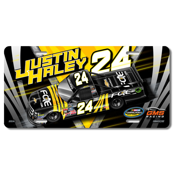 "Justin Haley ""Highlight"" License Plate"