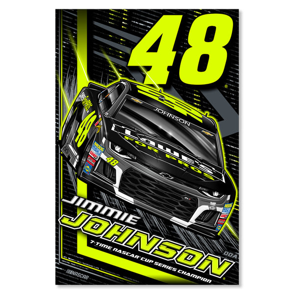 "Jimmie Johnson ""Florescent"" Poster"
