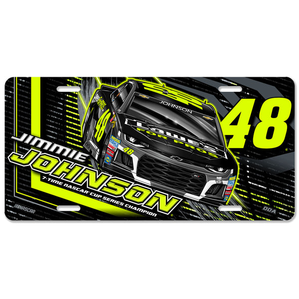 "Jimmie Johnson ""Florescent"" License Plate"