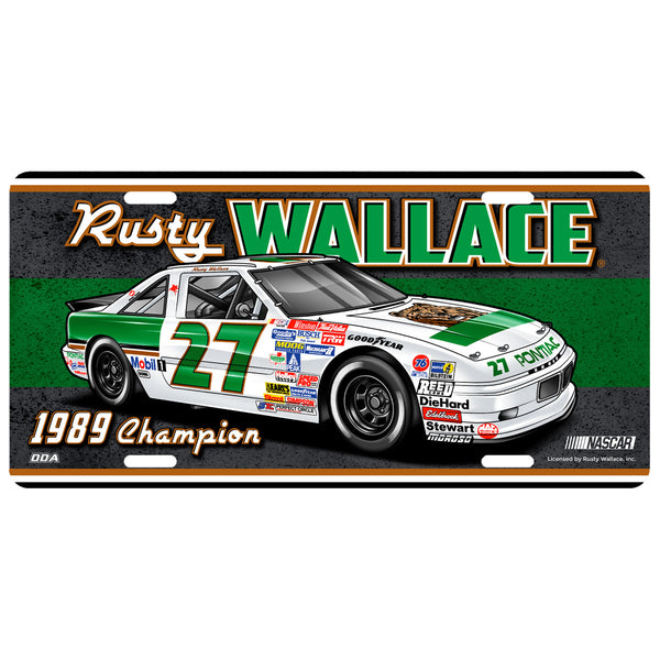 "Rusty Wallace ""1989 Champion"" License Plate"