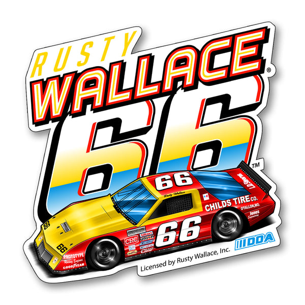 "Rusty Wallace ""66"" Decal"