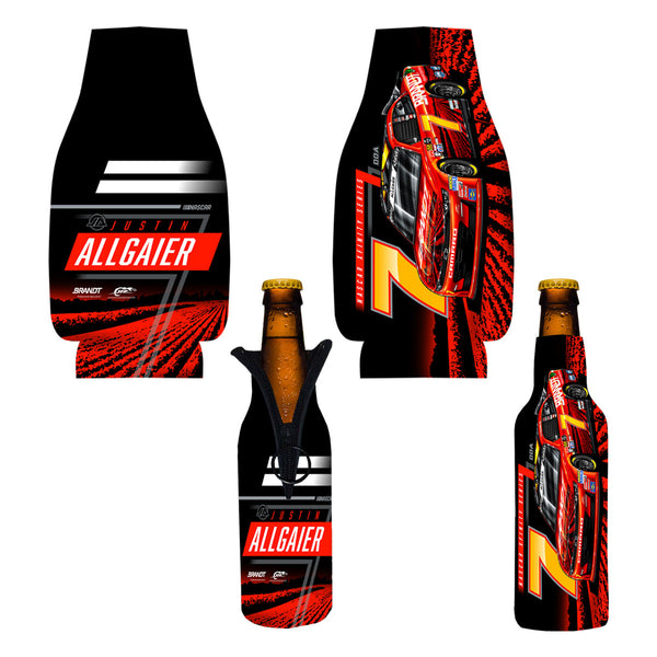 "Justin Allgaier ""Farm Plow"" Bottle Coozie"