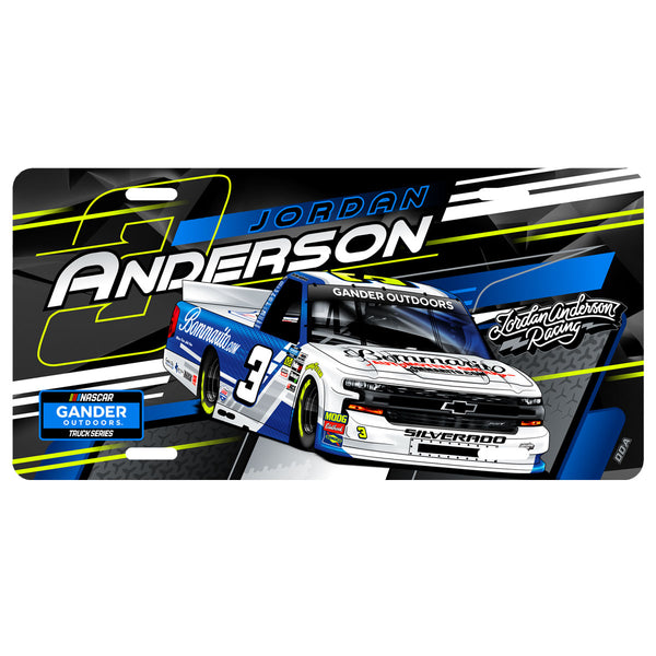 "Jordan Anderson ""Ready to Roll"" License Plate"