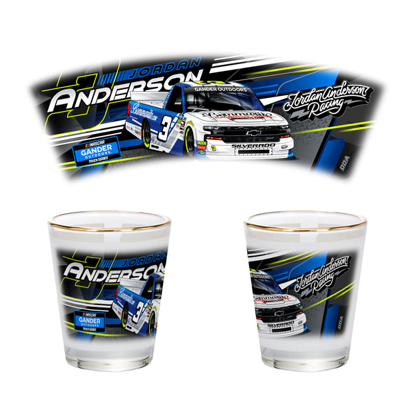 "Jordan Anderson ""Ready to Roll"" Shotglass"