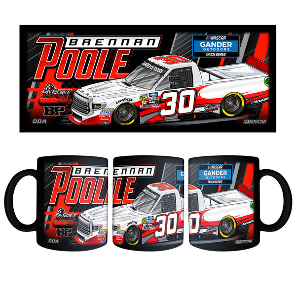 "Brennan Poole ""Mowing Down the Competition"" Black Mug"
