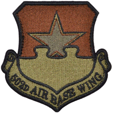 Tactical Gear Junkie Insignia 502nd Air Base Wing Patch - USAF OCP/Scorpion