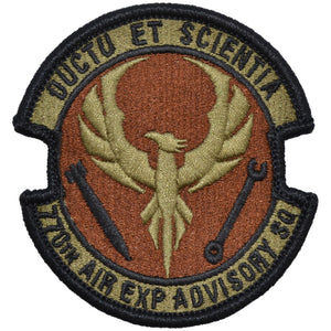 Tactical Gear Junkie Insignia 770th Air Expeditionary Advisory Squadron Patch - USAF OCP/Scorpion