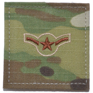 Air Force Rank w/ Hook Fastener Backing - OCP/Scorpion