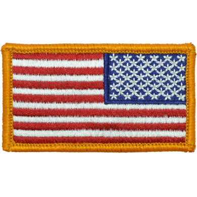 Tactical Gear Junkie Insignia Reverse USA Flag Fully Embroidered Patch - Full Color