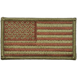 USA Flag Fully Embroidered Patch - USAF OCP/Scorpion