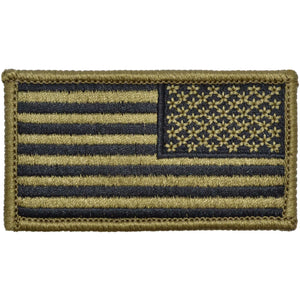Tactical Gear Junkie Insignia Reverse USA Flag Fully Embroidered Patch - OCP/Scorpion