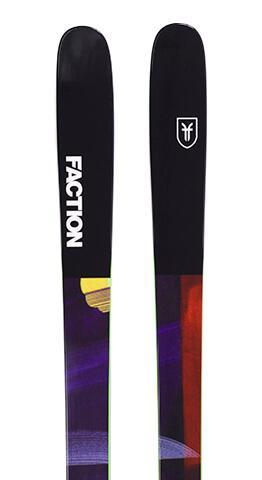 Full top sheet for the 2019 Prodigy 1.0 from Faction skis. A progressive, durable, twin-tip park ski that produces massive pop and carving performance. Extended rocker and tapered tip shape keep this ski extremely playful, with a medium flex pattern that's as comfortable pressing into nose butters as it is absorbing landings on 40-foot-booters.