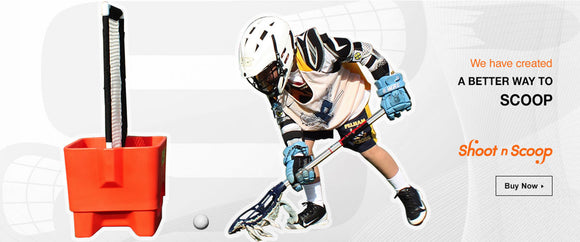 A lacrosse goal improves accuracy and provides a ground ball versus a lacrosse rebounder or bounceback