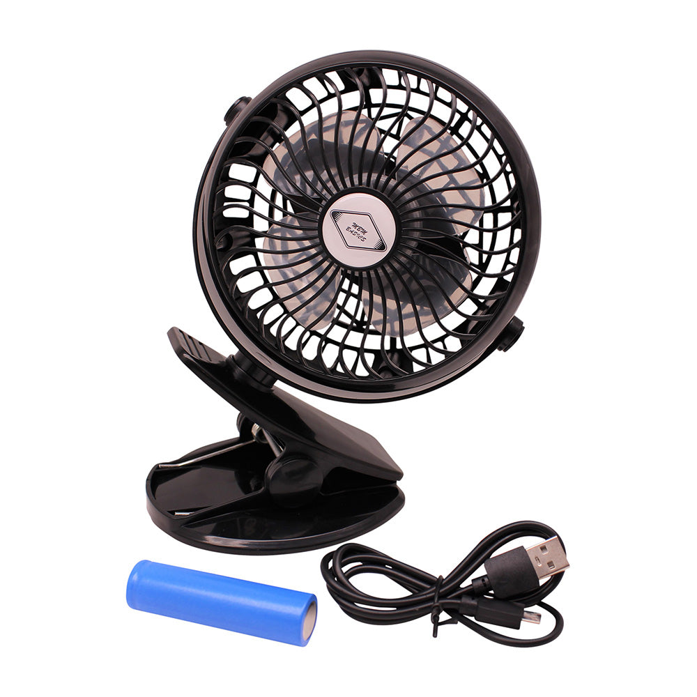 Battery Operated Rechargeable Clip Fan