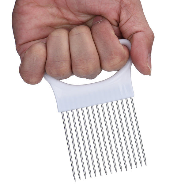 Vegetable Slicer Cutting Guide And Finger Protector