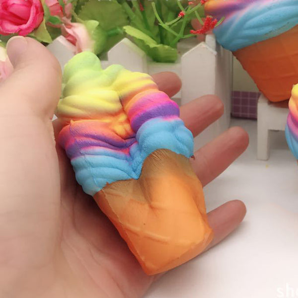 Funny Squishy Toy Rainbow Ice Cream Cone