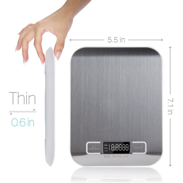 Digital Food Kitchen Scale, Stainless Steel,with LCD Display
