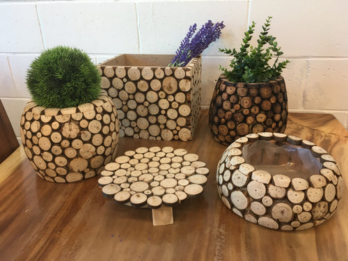 Beautiful Wooden Gardening Pot/Box (5 Pieces) Combo - Box, Rustic Art Centerpiece garden pot