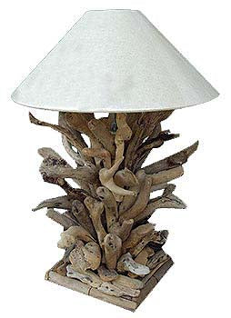 Classy Rustic Driftwood Branch Table Lamp And Accent