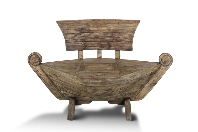 Fun Sail Reclaimed Wood Boat Bench Modern Traditional Rustic Storage Art Home Office Decor Cabinet Furniture Store Toronto NosNatura.com