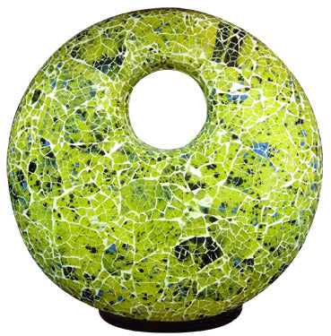 Fiberglass Mosaic Table Lamp (Green) & Accent Lighting