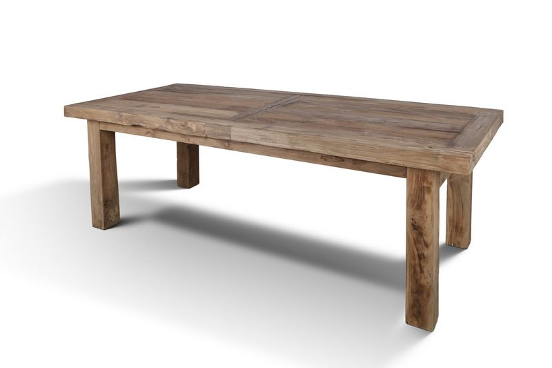 teak rustic solid wood dining table 220cm for sale live edge