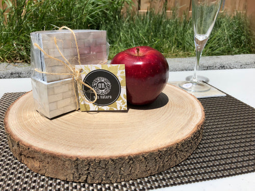 Paulownia Wood Board and Plank (30cm), Wine Glass Decor Tray, Platter, Wedding Cake Stand