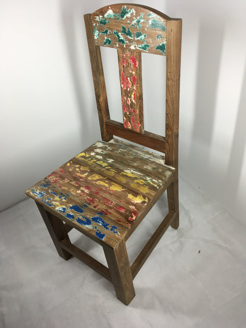 Handcrafted Reclaimed Boat Wood Chair