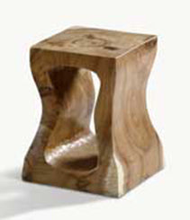 "Elegant Eco-Luxury Teak Solid Wood ""Charm"" Accent Table, End Table, Stool"