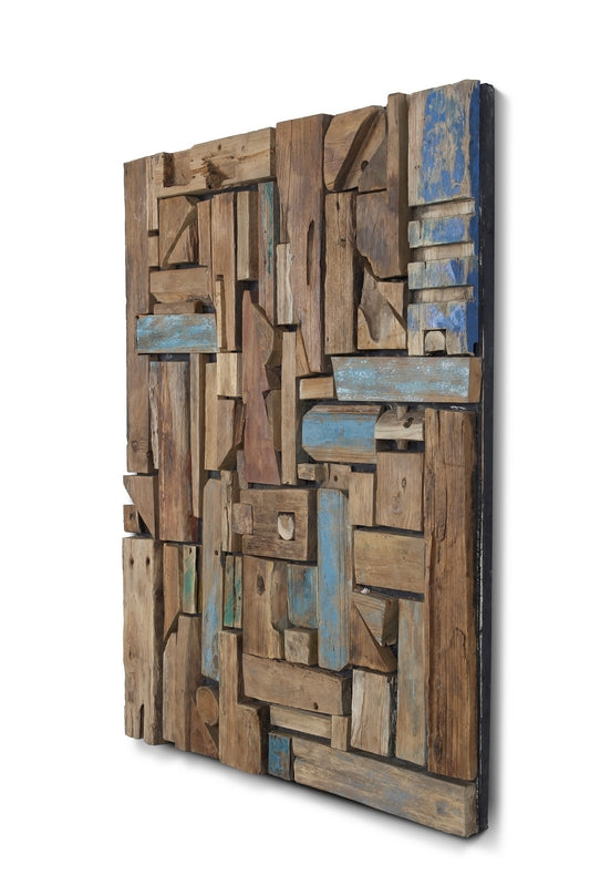 Modern Reclaimed Wood Wall Art Decor Sculpture Rustic Handmade Industrial Scandinavian Home Decor Furniture Store Toronto NosNatura.com