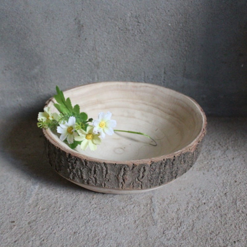 Natural Handmade Exotic Paulownia Wood Vase Planters Rustic Organic Home Decor Tray Bowl Serving Tray Organizer Modern Chic Toronto Live Edge Solid Wood Furniture Store NosNatura.com